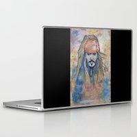 jack sparrow Laptop & iPad Skins featuring Jack Sparrow by Nicola Girello