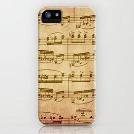Vintage Sheet Music iPhone Case