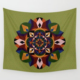 Faces Within Mandala Wall Tapestry