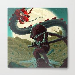 Dragon Fight Metal Print