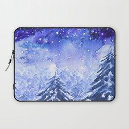 pine forest under galaxy Laptop Sleeve