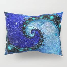 Beautiful Blue Nocturne of Scorpio Sapphire Spiral Pillow Sham