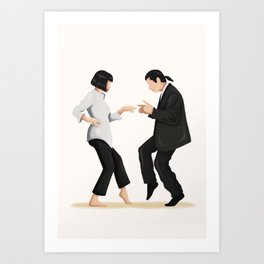 Pulp Fiction Twist Dance - Art Print