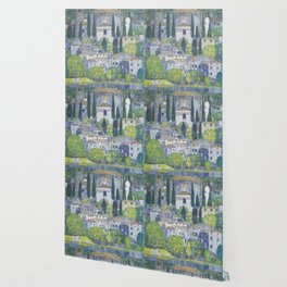 Gustav Klimt Church in Cassone Wallpaper