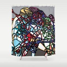 LAX Scramble Shower Curtain