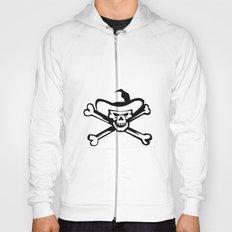 Cowboy Pirate Skull Cross Bones Retro Hoody