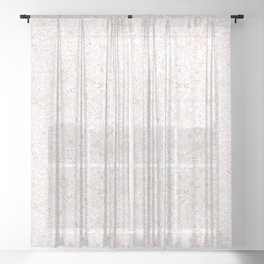 Floral Pattern Pink on White Sheer Curtain