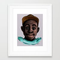 tyler the creator Framed Art Prints featuring Tyler The Creator by ASHUR Collective™