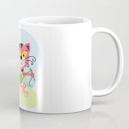 Cute kitten playing with yarn Coffee Mug