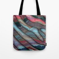 agate Tote Bags featuring Agate by RingWaveArt
