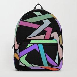 Geometric Art - Hexagon Rose Backpack