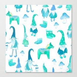 Tomte, Nisse, Swedish gnomes Canvas Print
