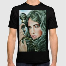 Warrior girl SMALL Black Mens Fitted Tee
