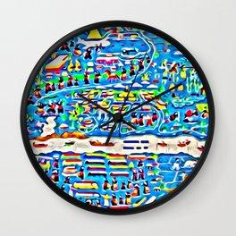 Mekong river scene Wall Clock