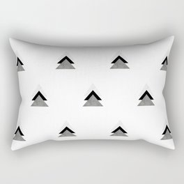 Arrows Collages Monochrome Pattern Rectangular Pillow