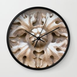 carved stone Wall Clock