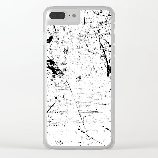 Scattered mind Clear iPhone Case