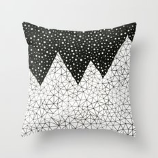 Day and Night (pen on paper) Throw Pillow