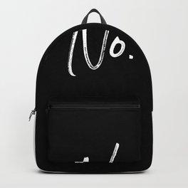 No Backpack