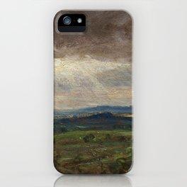 "John Constable ""Hampstead Heath looking towards Harrow"" (3) iPhone Case"