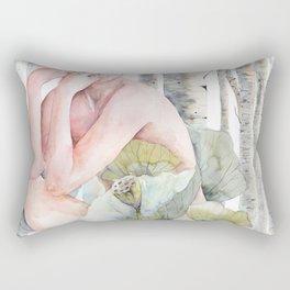 Savana in the birch forest Rectangular Pillow