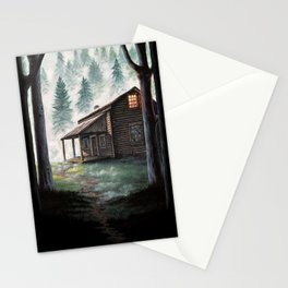 Cabin in the Pines Stationery Cards