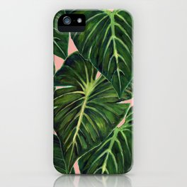 Tropical II Coral iPhone Case
