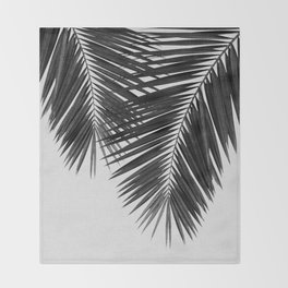 Palm Leaf Black & White II Throw Blanket