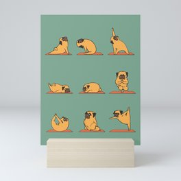 Pug Yoga Mini Art Print