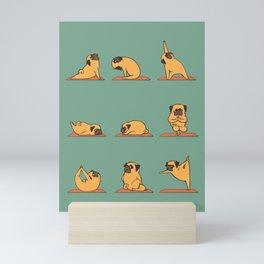 Pug Yoga Mini Art Print