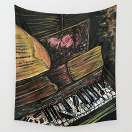 Broken Piano Wall Tapestry
