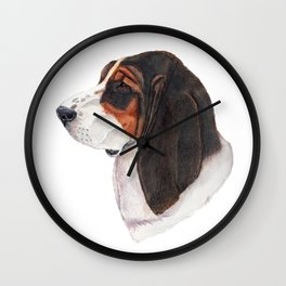 Basset hound - color Wall Clock