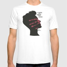 The Man who Knew Too Much - Alfred Hitchcock Movie Poster Minimal MEDIUM White Mens Fitted Tee