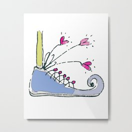 Shoe-Kick Metal Print