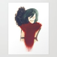 mikasa Art Prints featuring I Am Stronger Than All Of You by Jeidu