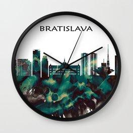 Bratislava Skyline Wall Clock