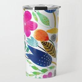 Flower Mayhem Travel Mug
