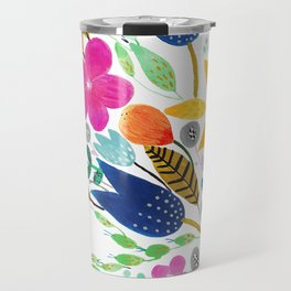 Flower Mayhem Travel Mug