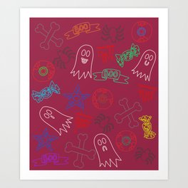 Trick or treat #2 Art Print