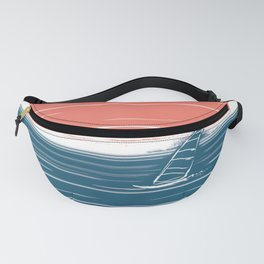 Windsurfing in the sea at sunset Fanny Pack