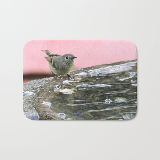 Kinglet at the Basin Rim Bath Mat