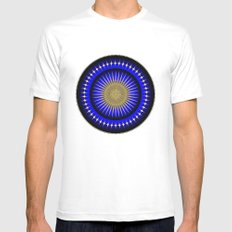 Fleuron Composition No. 123 White Mens Fitted Tee MEDIUM