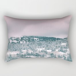 Blush Sky in Woodland Heights Rectangular Pillow