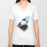 big bang V-neck T-shirts featuring Big Bang by angrymonk