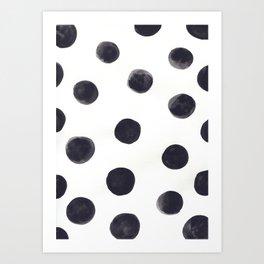 Watercolour Dots Art Print