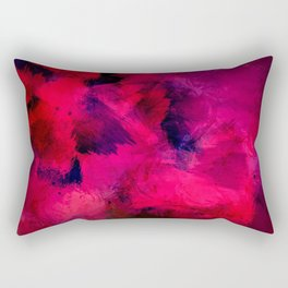 Red Abstract Painting Pattern Rectangular Pillow