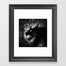 Drawlloween 2015: Werewolf Framed Art Print