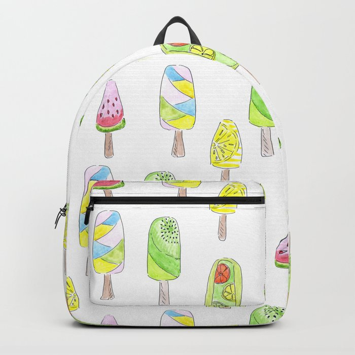 Watercolor seamless ice cream pattern Backpack