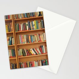 Bookshelf Books Library Bookworm Reading Stationery Cards