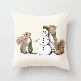 Holiday Trimmings Throw Pillow